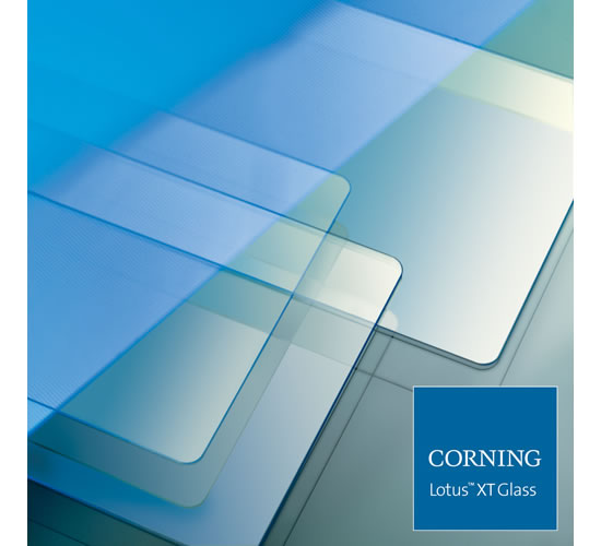 corning Lotus Corning Lotus XT Glass specially formulated for high performance displays announced